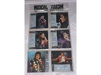 Michael Jackson picture singles pack 'BAD' era. Very rare.