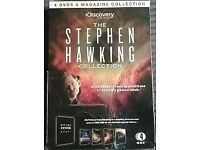 The Discovery Channel's Stephen Hawking Collection. 4 DVD's and Magazine