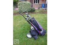 Full Golf Set. Bag & Trolley