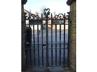 ORIGINAL SCHOOL GATES ORIGINALLY FROM ALMA SCHOOL NORTH LONDON
