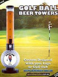 Golf Ball Beer/Cocktail Tube -Golf Ball Beer Tower, Great Present Bundall Gold Coast City Preview