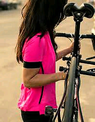 LULULEMON CYCLING JERSEY TOP * NEW REFLECTIVE SIZE 8 HOT PINK