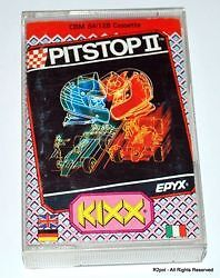 Pitstop II - boxed cassete version for Commodore C64 / C128 in VGC - TESTED