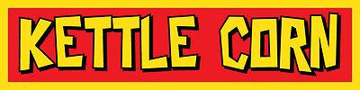 2x9 Vinyl Banner Sign New - Kettle Corn