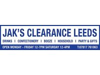 JAK'S CLEARANCE LEEDS - DELIVERY / COLLECTION