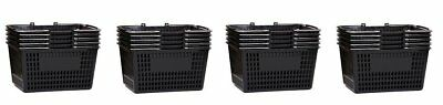 Shopping Basket Durable Black Plastic With Metal Handles Set Of 20