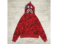 Bape hoodie red camo WGM