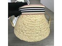 Burberry straw cap