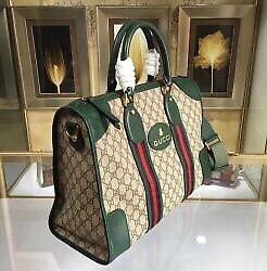 Gucci duffer bag green