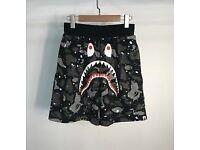 Bape shorts camo paint splats