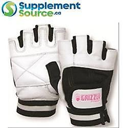 Grizzly WOMEN'S WHITE GRIZZLY PAWS WEIGHTLIFTING GLOVES (8728L)