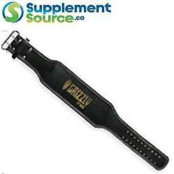 """Grizzly 6"""" HEAVY DUTY LEATHER ENFORCER WEIGHT LIFTING BELT 8466-04"""