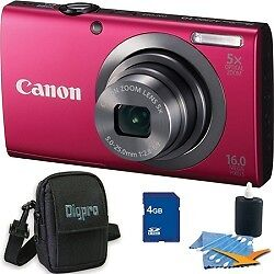 Canon-PowerShot-A2300-16MP-Red-Digital-Camera-4GB-Kit