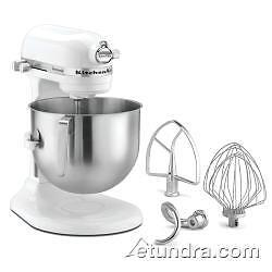 White KitchenAid 7 Qt Commercial Stand Mixer - Model KSM7990WH - NSF Certified