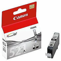2 X Genuine Canon Cli-521Bk Black Ink Tanks for use in MP620, MP630, MP640