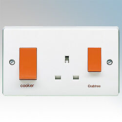 Crabtree-4521-1-Cooker-Control-Unit-with-13a-Socket