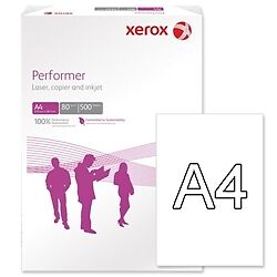 A4 Copier Paper 80gm Xerox Performer White Paper 500 A4 Sheets 1 Ream 003R90649