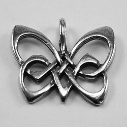 Pewter Charm Celtic Butterfly - 1 Bail - 100% Australian Made Pewter