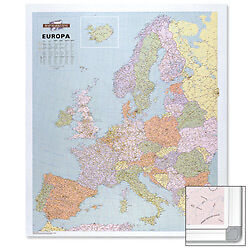 Wall Maps Of Europe