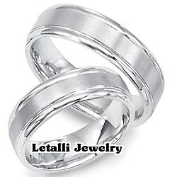 10K-WHITE-GOLD-HIS-HERS-MATCHING-WEDDING-BANDS-MENS-WOMENS-RINGS-6MM