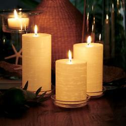 Partylite-3-x-4-WHITE-ICED-SNOWBERRIES-GLOLITE-Candle