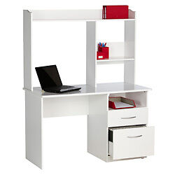 WHITE STUDENT OFFICE DESK / WORKSTATION / COMPUTER DESK ~ STUDY ~ HOME OFFICE