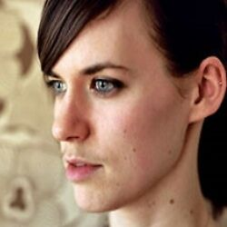 Woman facial hair growth