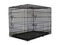 2 x Dog crates - medium and large