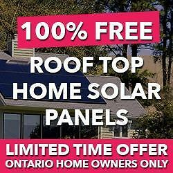 WOW! FREE $30,000 SOLAR PANELS FOR YOUR ROOF!! PLUS GET UP TO $500! Call 416-479-3535