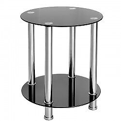 black gloss glass tv unit and matching side table