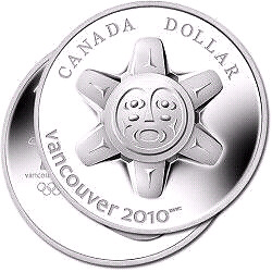 """2010  """"THE SUN""""  Limited Edition PROOF SILVER DOLLAR COIN"""