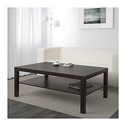 Lack coffee table with shelf - Black