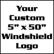 Custom Windshield Decal