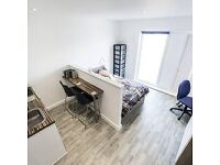 Modern studio flat for rent in the Hatbox, central Luton, inclusive of all bils