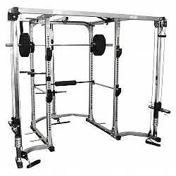 POWER CAGE WITH LAT ROW & CABLE CROSSOVER
