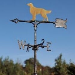 Whitehall Weathervane Golden Retriever Dog Garden Stake