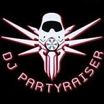 Partyraiser Black with red Sticker Big