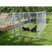 Chain link 3 Sided Pet Enclosure With Locking Gate