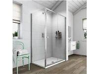 Bathroom Slider Door Shower Enclosure.