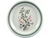 "Huge 12"" Portmeirion RHS White Almond Blossom cake etc plate"