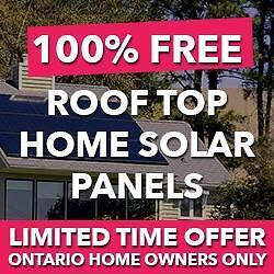 FREE SOLAR PANELS FOR ONTARIO HOME OWNERS!! Call 416-479-3535 TO LEARN MORE.