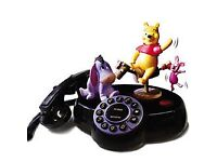 Disney Animated Talking Telephone,pooh,piglet, And Eyeore, Winnie Pooh