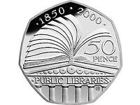 The Public Libraries 50p coin
