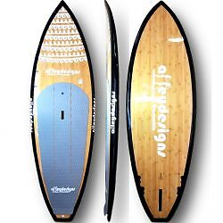 Stand up paddle board 8'8″x30″ Bamboo dark both sides surf SUP Al Currumbin Waters Gold Coast South Preview