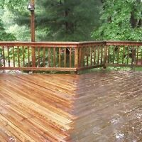 Deck staining/painting/cleaning