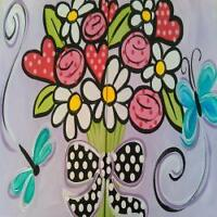 Mothers Day Canvas painting - Amazearts