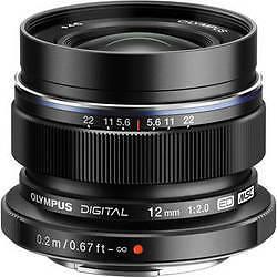 M.ZUIKO Digital ED 12mm f2.0 lens