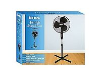 Benross 43830 Adjustable Oscillating 3-Speed Stand Fan