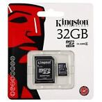 Kingston micro SDHC 32 GB class 4 geheugenkaart + adapter