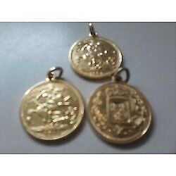 Gold Plated 1951 Pendants
